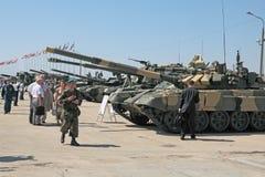 Den internationella salongen av armar och militär teknologi Royaltyfria Foton