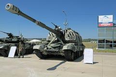 Den internationella salongen av armar och militär teknologi Arkivbilder
