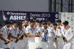 Den internationella syrsan England V Australien Investec Ashes 5th Tes Royaltyfria Bilder