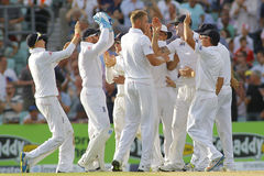 Den internationella syrsan England V Australien Investec Ashes 5th Tes Royaltyfri Fotografi