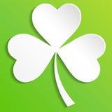 Den irländska treklövern lämnar bakgrund för lycklig dag för St Patrick ` s 10 eps vektor illustrationer