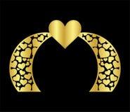 Den islamiska mallen för porten för laser-bröllopbågen för att klippa från vinyl dekoren är en stiliserad openwork modell  vektor illustrationer