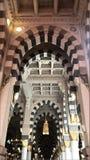 Den islamiska moskéarkitekturen i Mecka Arkivbilder