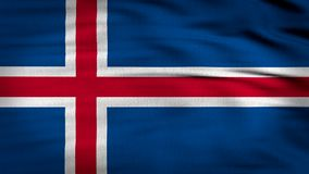 Den Island flaggan 3d framför 4k arkivfilmer