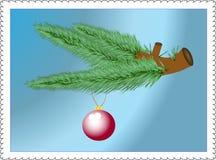 den isolerade baublen branches garneringevergreen stock illustrationer