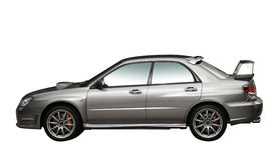 den isolerade bilen 4wd samlar silver royaltyfri foto