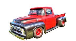 Den isolerade egenn målade den Ford pickupet på en vit bakgrund Royaltyfri Bild