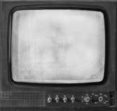 Den isolerade gamla retro TV:N Royaltyfri Foto