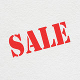 den isolerade illustrationen 3d framförde försäljningstext vit Royaltyfri Bild