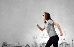 den isolerade illustrationen för jordklotet för flygplanbakgrundsbegreppet surranded löpande white Royaltyfri Fotografi