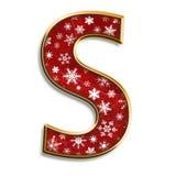 den isolerade julen letter rött s Royaltyfria Foton