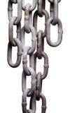 den isolerade kedjan länkar ihop metall Arkivbild