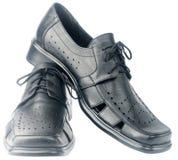 den isolerade mensen shoes white Fotografering för Bildbyråer