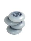 den isolerade skridskon wheels white Royaltyfria Bilder