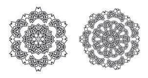 Den Israel Jew Ethnic Fractal Mandala vektorn ser som snöflingan eller stock illustrationer