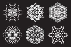 Den Israel Jew Ethnic Fractal Mandala vektorn ser som snöflingan eller royaltyfri illustrationer