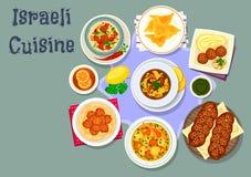 Den israeliska och judiska kokkonstmatställen besegrar symbolen vektor illustrationer