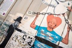 Den israeliska Västbankenbarriären är en avskiljandebarriär royaltyfri bild