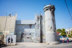 Den israeliska Västbankenbarriären royaltyfri fotografi