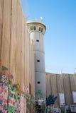 Den israeliska Västbankenbarriären arkivfoton