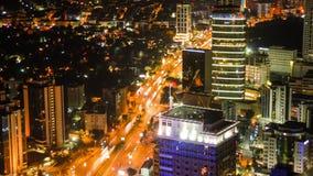 Den Istanbul staden rusar hög definition för tidschackningsperiod 4K ultra stock video