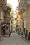 Den Istiklal gatan turnerar İstiklâl Caddesi arkivfoto