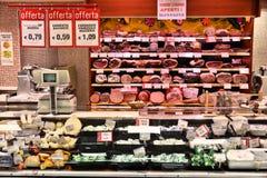 Den Italien slaktaren shoppar Royaltyfri Foto