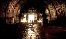 Tunnel under konstruktion Royaltyfria Foton