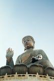 Den jätte- Buddha i Hong Kong Arkivbilder