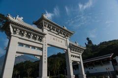 Den jätte- Buddha i Hong Kong Arkivbild