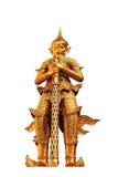Den jätte- gloden för skulptur i Wat Phra Kaeo Arkivbild