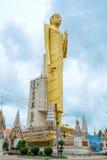 Den jätte- guld- Buddha, buddism, Thailand Royaltyfri Fotografi