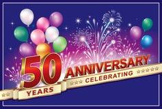 Den Jahrestag 50 Jahre feiern vektor abbildung