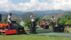 Den Jantho kullemusikbandet utför Royaltyfria Bilder