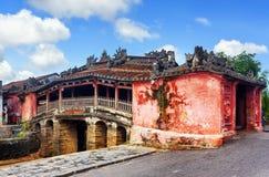 Den japan täckte bron, Hoi An Ancient Town, Vietnam arkivfoto