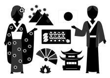 Den Japan uppsättningen Arkivfoton