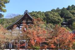 Den japanska buddismtemplet namngav den Eikando templet berömt läge för Autumn Colors i Kyoto, Japan Arkivfoton