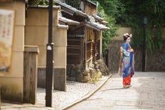 Den japanska geishaen Maiko isolerade Arkivbilder