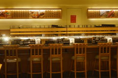 Den japanska sushi shoppar Royaltyfria Foton