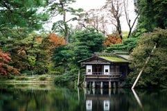 Den japanska trädgården i de japanska trädgårdarna & den irländska nationella dubben av Kildare är de mest fina japanska trädgård Arkivbild