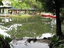 Den japanska tr?dg?rden, Rizal parkerar, Manila, Filippinerna royaltyfri foto