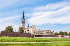 Den Jasna Gora fristaden i Czestochowa Royaltyfri Fotografi