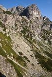 Den Jastrabia vezaen och Karbunkulovy hreben från den Mala Zmrzla dolinaen Fotografering för Bildbyråer