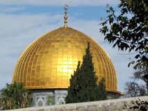Den Jerusalem kupolen av vaggar moskén 2012 Arkivbilder