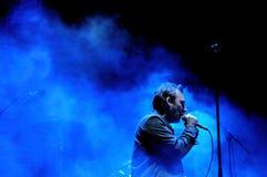 Den Jesus och Mary Chain musikbandet utför på den Heineken Primavera ljudfestivalen 2013 Arkivbild