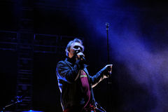 Den Jesus och Mary Chain musikbandet utför på den Heineken Primavera ljudfestivalen 2013 Royaltyfri Foto