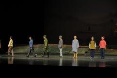 Den Jiangxi för ett gardinfelanmälan operan en besman Arkivbilder