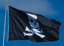den jolly flaggan piratkopierar roger arkivbilder