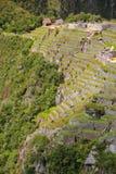 Den jordbruks- stenen terrasserar på Machu Picchu i Peru Royaltyfri Fotografi