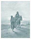 Den Joseph och Mary illustrationen skissar Arkivfoton
